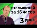 Полиглот итальянский за 16 часов. Урок 3 с нуля. Уроки итальянского языка с Петров ...