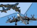 Поединок бомбардировщиков Ту 95 Медведь против Крепости B 52