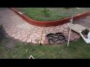 ЧАСТЬ 3 Садовая дорожка своими руками плавный поворот PART 3 DIY concrete walkway smooth turn