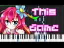 This Game - No Game No Life (Opening) [Piano Tutorial] (Synthesia) Animenz