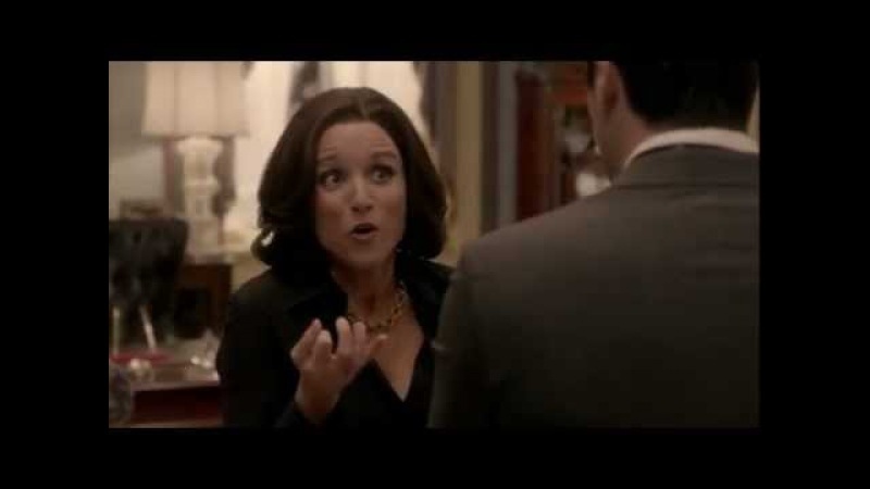 Veep. Using a Croissant as a Dildo. Julia Louis-Dreyfus as Selina