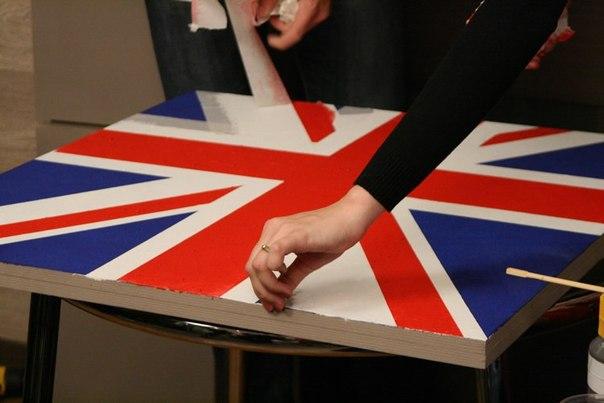 Английским флагом своими руками
