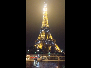 EuroStars2015.Франция,Париж)))Ночная прогулка по Сене)))Эйфелева башня ночью))))
