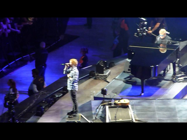 Ed Sheeran Elton John 'Afire Love' Wembley Stadium 10.07.15 HD