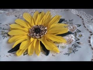 Как сделать подсолнух. Часть 1. Цветы из ткани