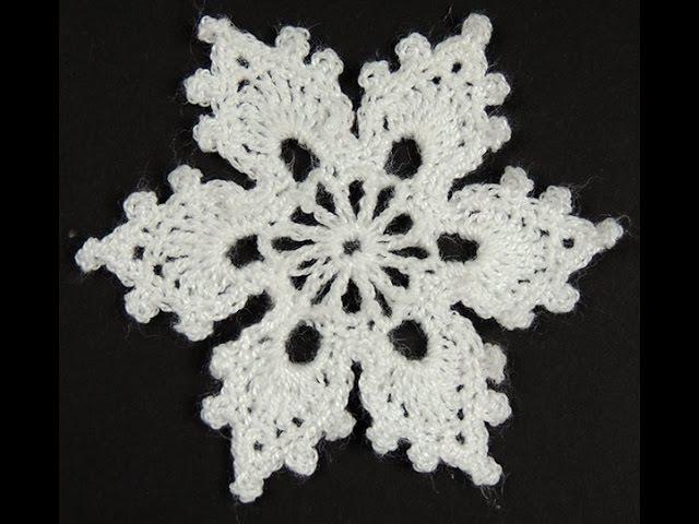 Crochet : Copo de Nieve 2