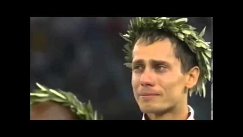 Слезы победы Юрия Борзаковского, 800 м, ОИ Афины 2004