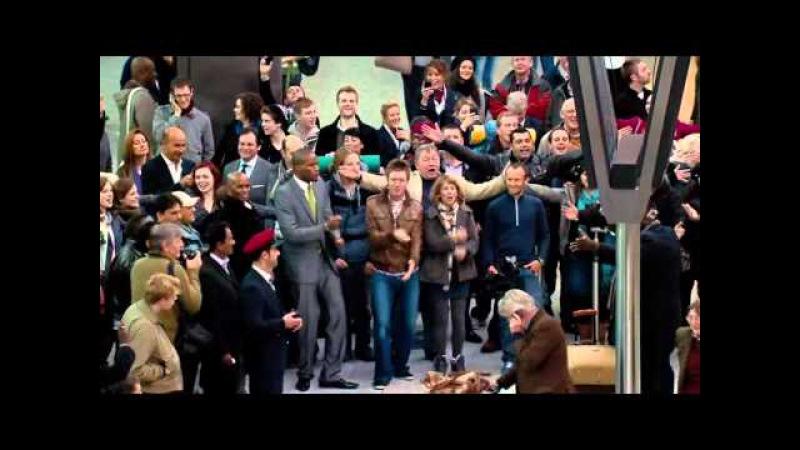 The T Mobile Welcome Back флешмоб в аэропорту Хитроу