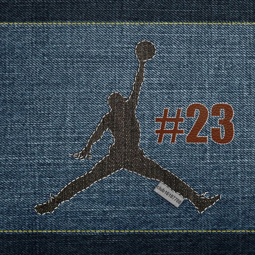 Air Jordan на джинсах