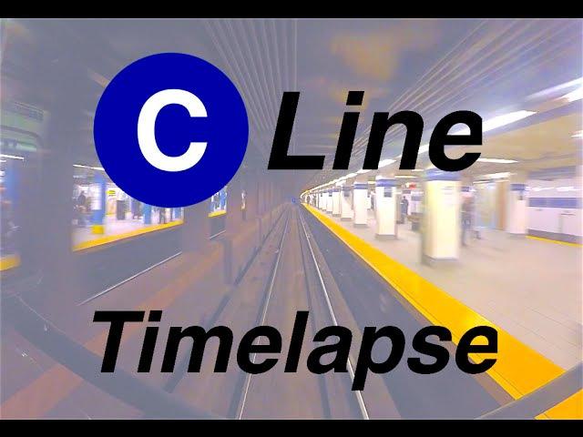 ⁴ᴷ NYC Subway Timelapse The Brooklyn bound C Line смотреть онлайн без регистрации