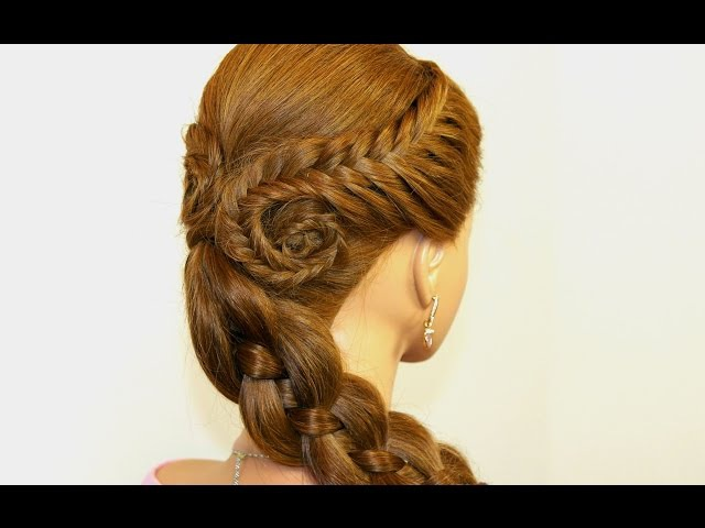 Easy hairstyle for long hair. Fishtail Braids, Four (4) Strand Braid