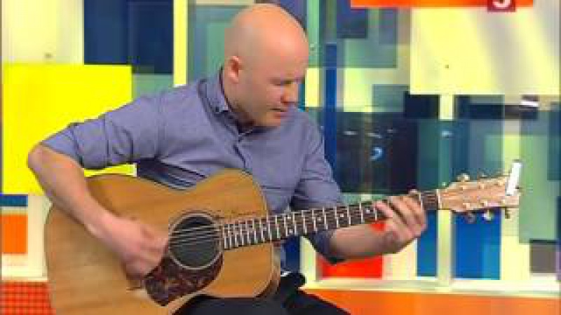 Гитарист виртуоз Денис Щербаков в программе Утро на 5 22 06 2015