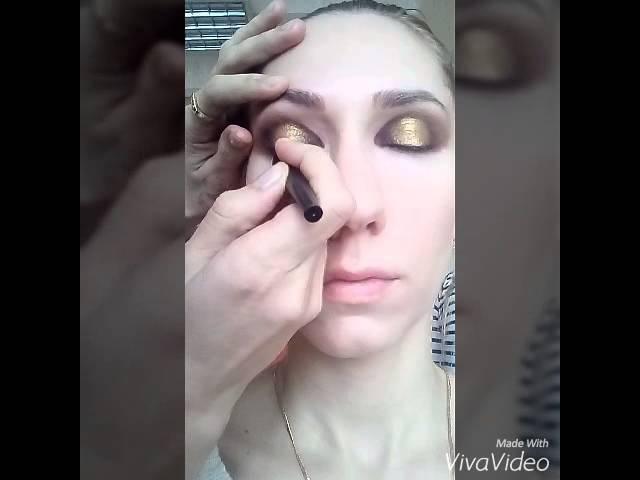 Как сделать smoky eyes на больших глазах? Макияж на выпускной