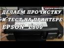 Новый принтер   Epson L800 не печатает одним цветом. Тест и прочистка.