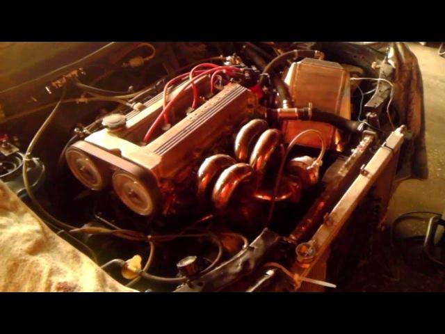 Mazda 323 BG motor F2cylinder head FE3N Turbo first start