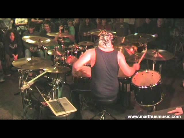 Martin 'Marthus' Skaroupka - Her Ghost In The Fog (Pearl Sabian drum clinic 2011)