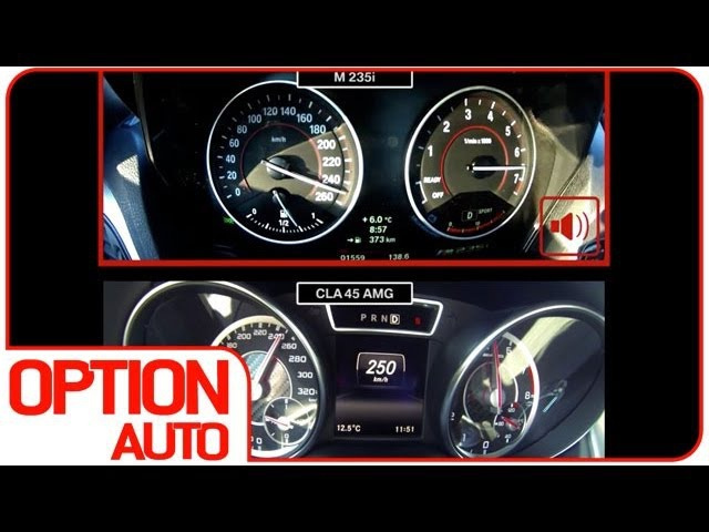 0-260 km/h : M235i VS CLA 45 AMG (Option Auto)