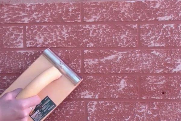 отделка стен под кирпич-покраска