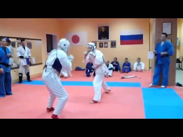 Джингёзов Асабали и Адам Роман - Бой на Аттестации КУДО 13.12.2015