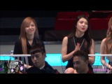Fancam 151202 Red Velvet (Wendy Joy) Reaction to RHYTHM TA (iKON) at 2015 MAMA in HK