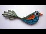 Quilled bird - Oiseau quilling - P