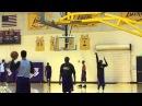 Бросковая тренировка Коби Брайанта (3 очковые броски). Throwing training Kobe Bryant (3 point shots)