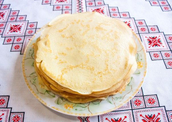 Тесто на блины на молоке пошаговое
