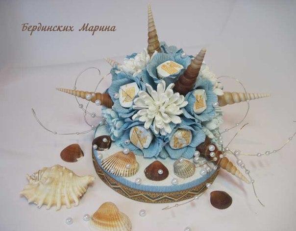 Букеты из конфет мастер класс марины бердинских