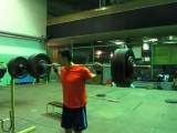 Behind the Neck Press 85kg x 1 ;  87kg x 1