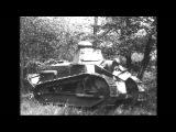 Renault FT WW1 Light Tank Demonstration Test Video Vintage Footage Forerunner of M1917 (Silent)