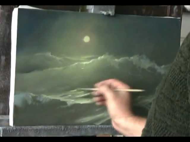 Ночное море. видео урок живописи Г. Дмитриева.