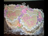 Double Heart Cake How to Decorate -Mothers Day- Anniversary- Birthday- Tutorial