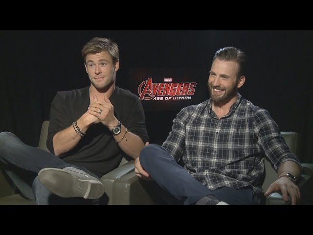 Chris Hemsworth and Chris Evans Talk AVENGERS 2, Marvel Contracts and Breast Pumps