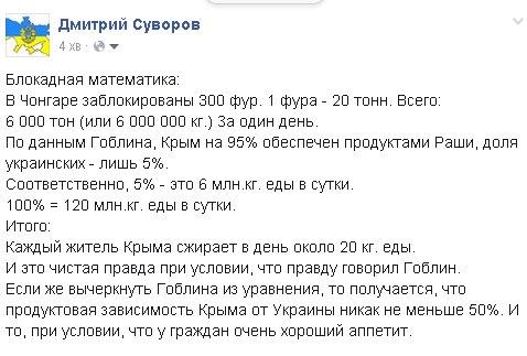 Предприниматель оставил на границе с Крымом 40 тонн картошки для участников блокады - Цензор.НЕТ 8075