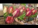 Весеннее тюльпаны. Мастер-класс. Олег Буйко. Tulips. Master class by Oleg Buyko on two canvases