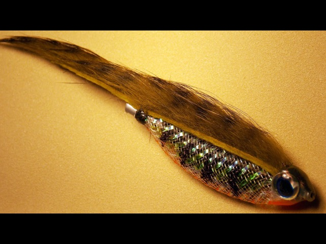 Zonker tube bait fly tying instructions for fly fishing, spinning and baitcast