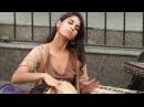 Уличные музыканты. Красивый голос девушки.