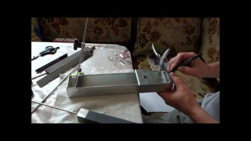 Самодельная Заточная Система Строгова для ножей, ножниц, стамесок и тп... фильм 2