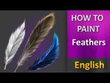 How To Paint in photoshop _ Feathers