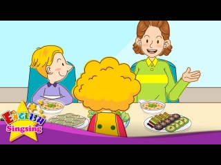 Kids' English | [Invitation] Help yourself. May I have some more? (At the table) - Easy Dialogue for Kids
