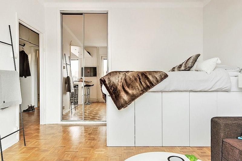 Интерьер квартиры-студии 29 м.