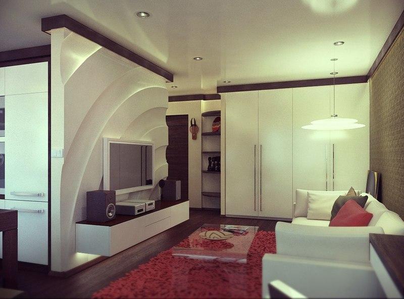 Преображение 1-комнатной хрущевки 33 м.