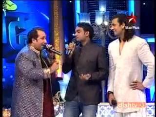 Rahat Fateh Ali Khan Master Saleem jugalbandi-Chhote Ustaad 2010 Star Plus