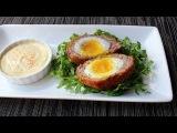 Scotch Eggs - Crispy Sausage-Wrapped Soft Cooked Egg - How to Make Scotch Eggs