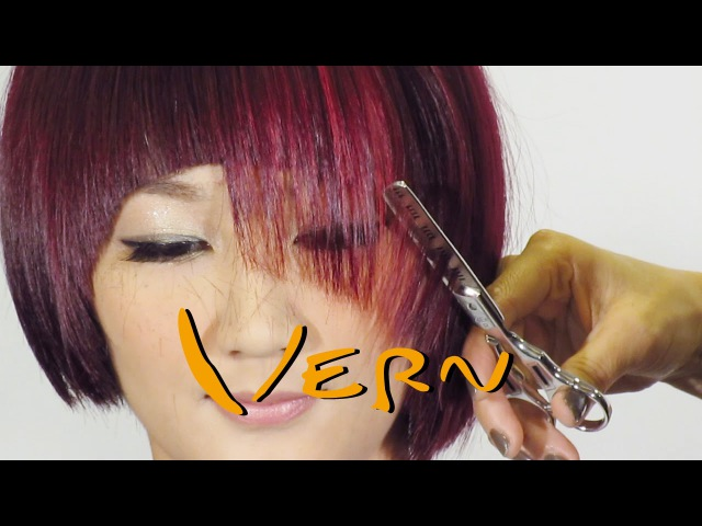 How to cut Vern Fashion contrast man women's hairstyles part1 韋恩時尚對比男女髮型設計Vern Hairstyles 24