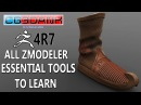 ZBRUSH 4R7 TUTORIAL_MODELING A SHOE(ALL ESSENTIAL TOOLS TO LEARN IN DETAIL)