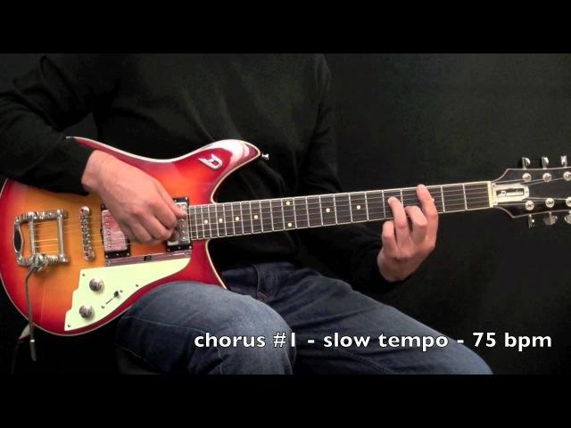 Blue Bossa Comping - Achim Kohl - Jazz Guitar - Fast Slow