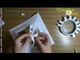 Как просто сделать ОБЪЕМНУЮ снежинку из бумаги _ Новогодние поделки СВОИМИ РУКАМИ