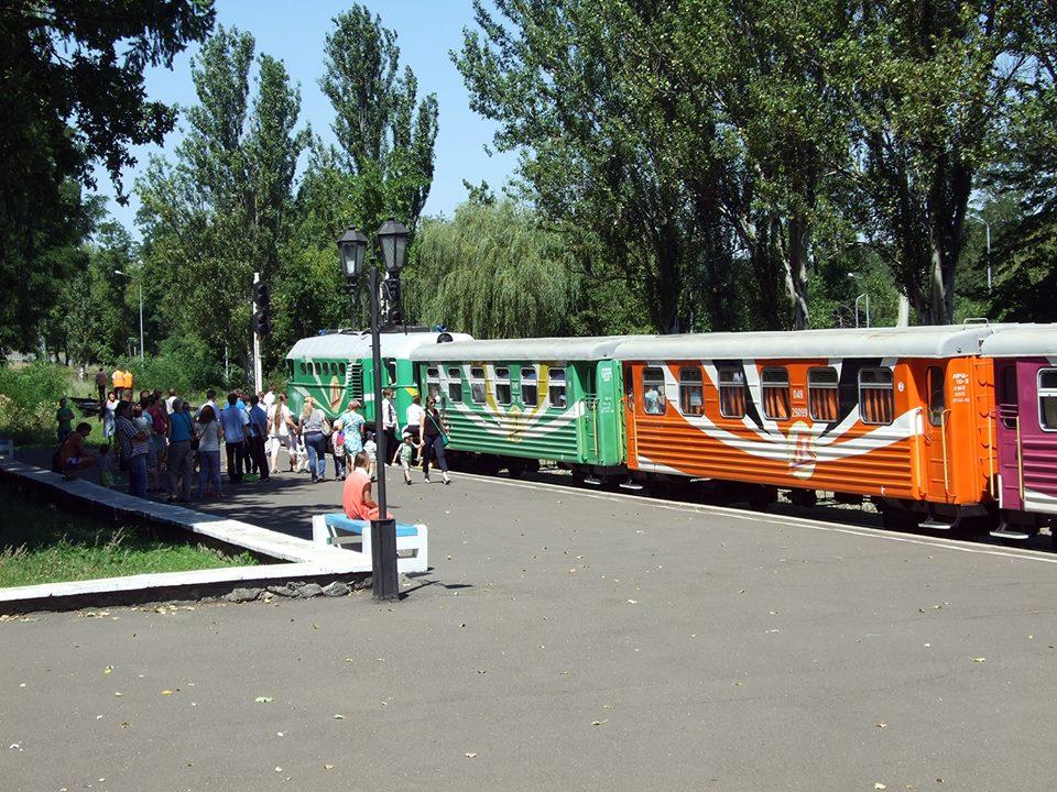 Паровозик из Ромашково ходит в Донецке