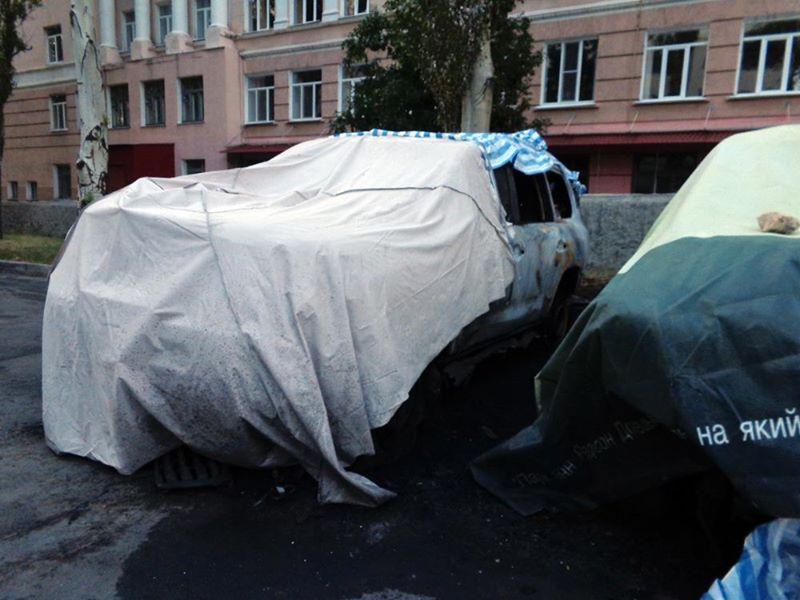 Сожженные машины ОБСЕ